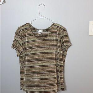Dressbarn XL striped shirt
